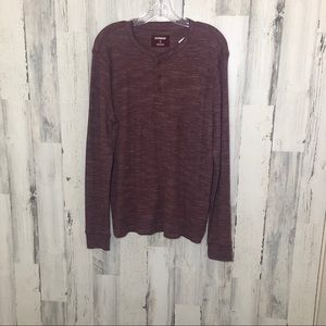 Express Burgundy Thermal Knit Shirt Sz M NWT